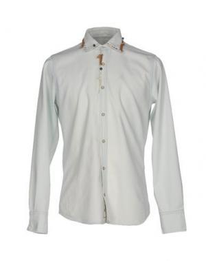 Джинсовая рубашка PENCE. Цвет: синий
