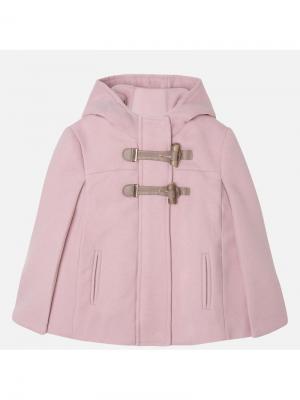 Вязаное пальто Mayoral. Цвет: розовый