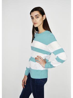 Джемпер Romgil. Цвет: белый, светло-голубой