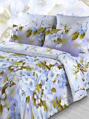 Комплект постельного белья из бязи 2 спальный Василиса. Цвет: голубой