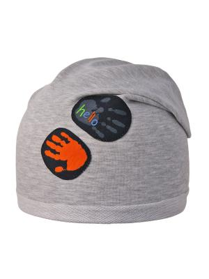 Шапка Elo-Melo. Цвет: серый меланж, оранжевый, черный
