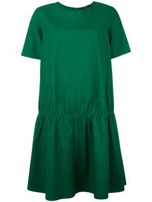 Платье свободного кроя Odeeh. Цвет: зелёный