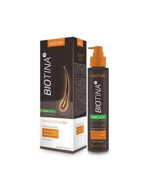 BIOTINA Тоник против выпадения волос с биотином 100мл Kativa. Цвет: серый