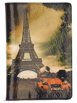 Обложка для документов Flioraj. Цвет: черный, оранжевый, белый
