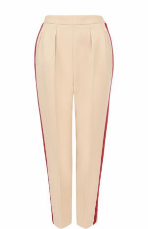 Укороченные шерстяные брюки с лампасами Maison Margiela. Цвет: кремовый