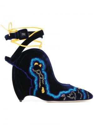 Туфли Leandra Liudmila. Цвет: синий