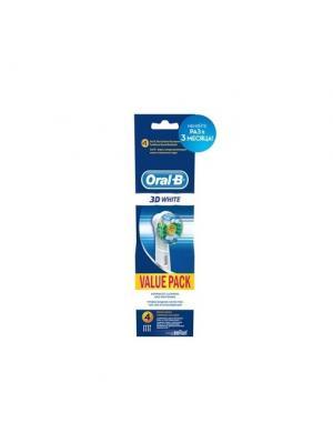 Сменные насадки ORAL-B 3DWhite 4 шт (3+1) для электрической зубной щетки ORAL_B. Цвет: белый, синий
