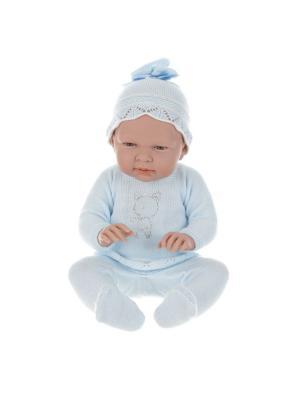 Кукла Arias пупс Elegance, 52см,Baby eddie azul,в голубом, со стразами Arias.. Цвет: голубой