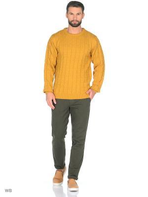 Джемпер Modis. Цвет: хаки, желтый, светло-коричневый