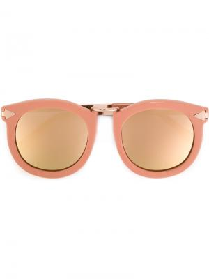 Tinted lenses round shaped sunglasses Karen Walker Eyewear. Цвет: розовый и фиолетовый