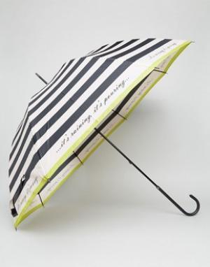 Totes Зонт в полоску. Цвет: черный