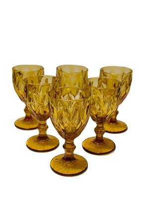 Набор бокалов Алькор для вина из цветного стекла, 6шт. DEEPOT. Цвет: желтый