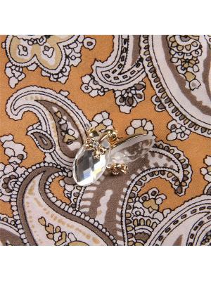 73012 Набор подарочный, Платок+серьги Venuse. Цвет: золотистый, серебристый