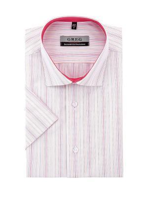 Рубашки GREG. Цвет: рыжий, белый, фуксия