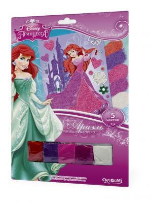 Disney Princess. Аппликация из песка Ариэль в замке. Чудо-творчество. Цвет: белый, синий, красный