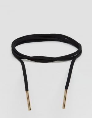 Reclaimed Vintage Ожерелье-чокер в несколько оборотов. Цвет: черный