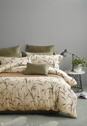Комплект постельного белья Bellehome. Цвет: бежевый