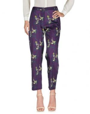 Повседневные брюки LAURA URBINATI. Цвет: фиолетовый