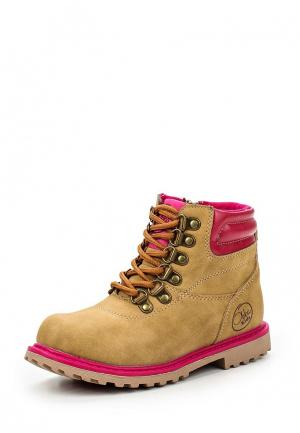 Ботинки Obba. Цвет: бежевый