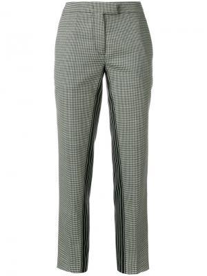 Укороченные брюки с комбинированным узором Marco De Vincenzo. Цвет: чёрный