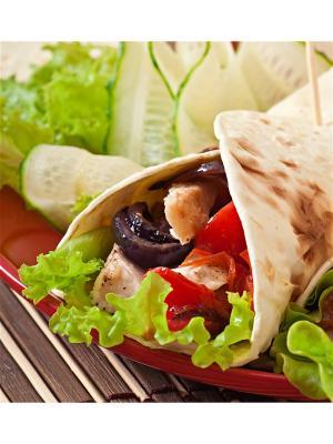 Картина тортилья на гриле Ecoramka. Цвет: светло-зеленый, красный, светло-коричневый
