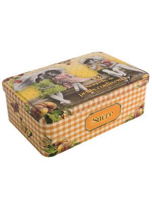 Контейнер для хранения сахара 20х13х7 см Маленькие кондитеры Orval. Цвет: зеленый, оранжевый, белый