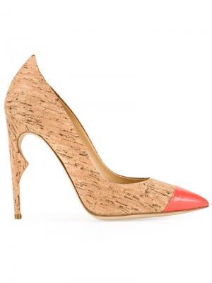 Туфли Flicker с заостренным носком Jerome Rousseau. Цвет: коричневый