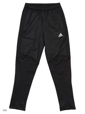 Трикотажные брюки дет. спорт. TIRO17 WARM PTY BLACK/WHITE Adidas. Цвет: черный