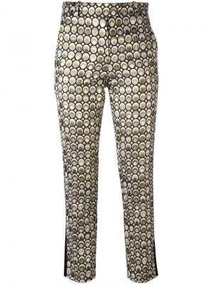 Укороченные брюки кроя слим Racil. Цвет: металлический