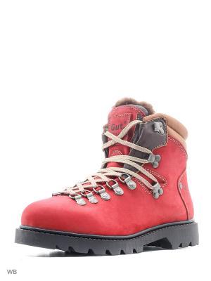 Ботинки GUT. Цвет: красный