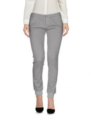 Повседневные брюки SHOCKLY. Цвет: светло-серый
