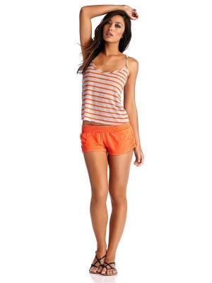 Топ Vitamin A. Цвет: серый меланж, оранжевый
