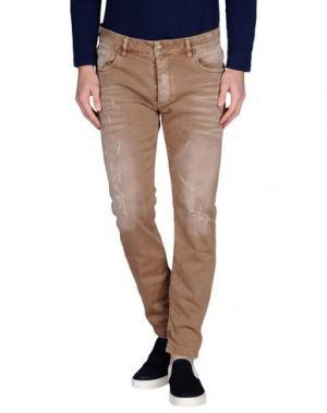 Повседневные брюки - -ONE > ∞. Цвет: светло-коричневый