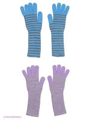 Перчатки, 2 пары FOMAS. Цвет: сиреневый, светло-серый, серый, голубой