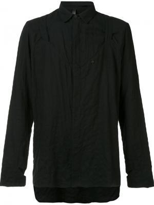 Рубашка свободного кроя Barbara I Gongini. Цвет: чёрный