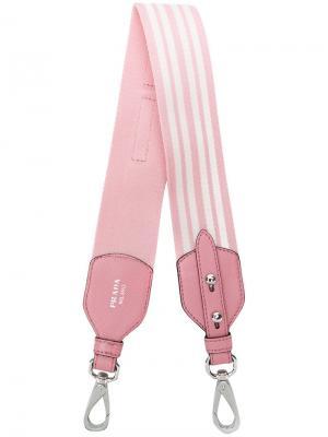 Ремень для сумки в полоску Prada. Цвет: розовый и фиолетовый
