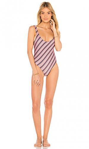 Слитный купальник palm springs Acacia Swimwear. Цвет: фиолетовый