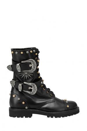 Кожаные ботинки Fausto Puglisi. Цвет: черный
