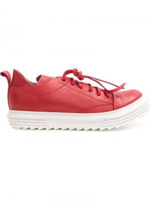 Кеды на шнуровке Artselab. Цвет: красный
