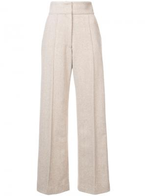 Классические брюки с завышенной талией Rachel Comey. Цвет: телесный