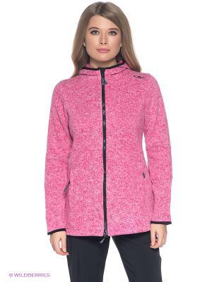 Толстовка CMP. Цвет: розовый