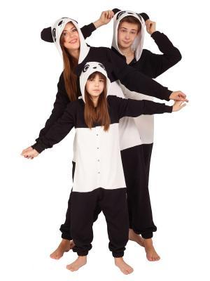 Пижама летняя хлопковая ПАНДА HandyWear. Цвет: черный, белый