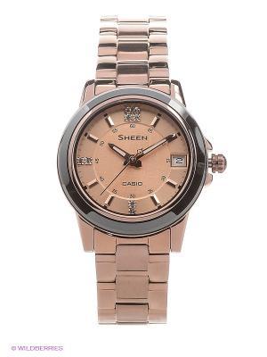 Часы Sheen SHE-4512BR-9A CASIO. Цвет: золотистый