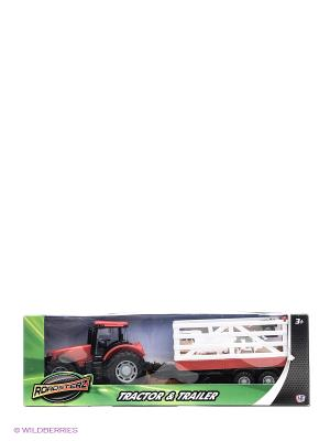 Трактор с прицепом Красный HTI. Цвет: красный