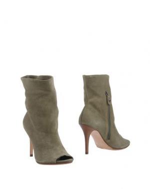 Полусапоги и высокие ботинки TWIN-SET Simona Barbieri. Цвет: зеленый-милитари