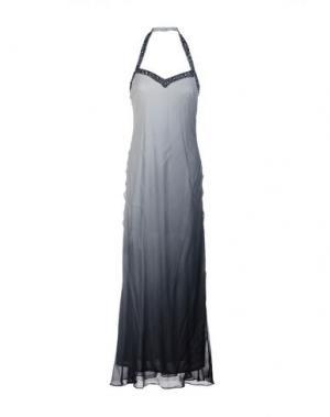 Длинное платье MUSANI COUTURE. Цвет: серый