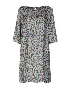 Короткое платье SIYU. Цвет: светло-серый