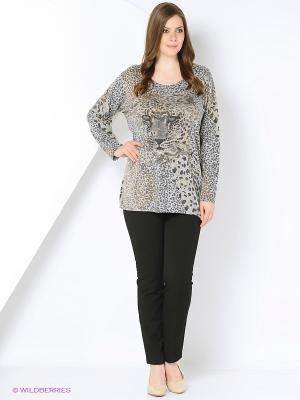 Пуловер Open End. Цвет: серый, коричневый, темно-синий