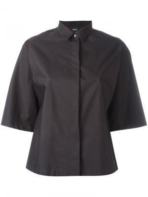 Рубашка с широкими рукавами Aspesi. Цвет: чёрный