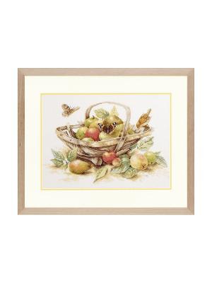 Набор для вышивания Mand met appels /Медовые яблоки/ 39*29см Vervaco. Цвет: коричневый, зеленый, светло-коричневый